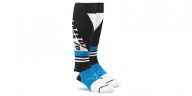 dlouhé ponožky 100% Torque modrá/bílá