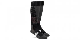 dlouhé ponožky 100% Torque černá/šedá