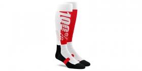 dlouhé ponožky 100% Torque červená/černá