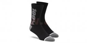 dlouhé ponožky 100% Rythym Merino černá/šedá