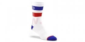 dlouhé ponožky 100% Flow bílá