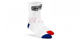 dlouhé ponožky 100% Terrain bílá