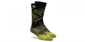 dlouhé ponožky 100% Rift černá/žlutá