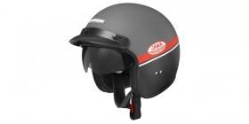 otevřená helma Cassida Oxygen Jawa OHC (šedá matná/červená/černá/bílá)