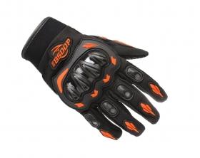 rukavice na motokros BS moto s chrániči oranžové