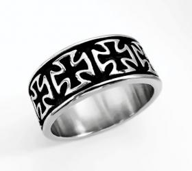 motorkářský prsten maltézské kříže