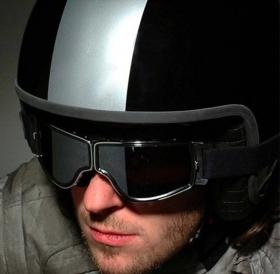 moto brýle chopper retro Luxus - čirá skla