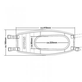 brašna na nádrž/tankvak Shad SR18 hnědý retro - F.B Mondial Hipster