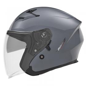 otevřená helma Nox N127 pastelová šedá