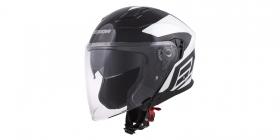 otevřená helma Cassida Jet Tech Corso černá/bílá