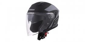 otevřená helma Cassida Jet Tech Corso černá matná/šedá