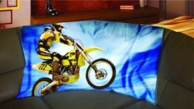 motorkářská deka s motokrosařem