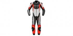 jednodílná moto kombinéza Spidi Sport Warrior Perforated Pro černá/bílá/červená fluo