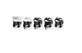 enduro přilba SMK Hybrid Evo 5 v 1 černá matná
