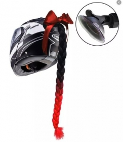 copánek na přilbu černá/červená