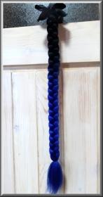 copánek na přilbu černá/modrá