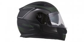 integrální přilba Cassida Apex Fusion černá matná/zelená army/bílá