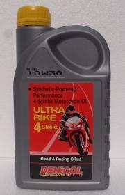 motorový olej Denicol ULTRA BIKE 4T - 10W30 - 1l