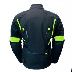 dámská moto bunda TP černá/žlutá fluo