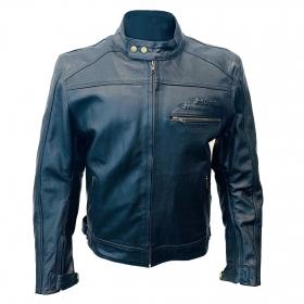 kožená moto bunda Perfor černá
