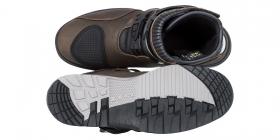 dámské boty na moto Kore Adventure Mid hnědé