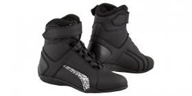 dámské boty na moto Kore Velcro 2.0 černé/bílé