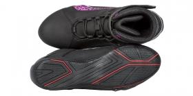 dámské boty na moto Kore Velcro 2.0 černé/fialové