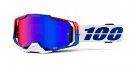 brýle na motokros 100% Armega Genesis(Hiper modro červené plexi s čepy pro slídy)