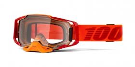 brýle na motokros 100% Armega Litkit(čiré plexi s čepy pro slídy)