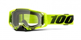 brýle na motokros 100% Armega Nuclear Citrus(čiré plexi s čepy pro slídy)