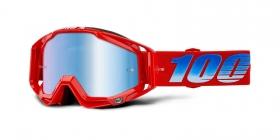 brýle na motokros 100% Racecraft Kuriakin(modré zrcadlové plexi)