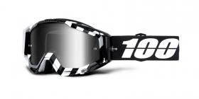 brýle na motokros 100% Racecraft Alta(stříbrné zrcadlové plexi)