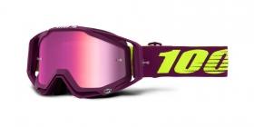 brýle na motokros 100% Racecraft Klepto(stříbrné zrcadlové plexi)