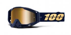 brýle na motokros 100% Racecraft Bakken(zlaté zrcadlové plexi)