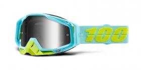 brýle na motokros 100% Racecraft Pinacles(stříbrné zrcadlové plexi)