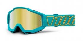 brýle na motokros 100% Accuri Galak(zlaté zrcadlové plexi)