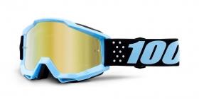 brýle na motokros 100% Accuri Taichi(zlaté zrcadlové plexi)