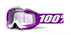 brýle na motokros 100% Accuri Framboise(čiré plexi)