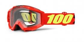 brýle na motokros 100% Accuri Saarinen(čiré plexi s čepy pro slídy)