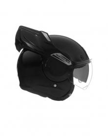 vyklápěcí přilba Nox Premium Stratos černá lesklá