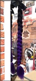 copánek na přilbu černá/fialová