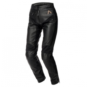 dámské moto kalhoty Adrenaline Siena 2.0 kožené černé