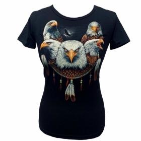 dámské moto triko s potiskem - krátký rukáv SVÍTÍCÍ
