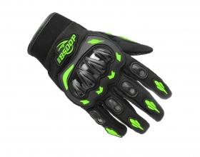 rukavice na motokros BS moto s chrániči zelené