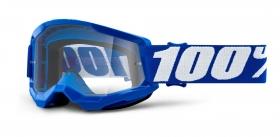 dětské brýle na motokros 100% Strata 2 modré čiré plexi