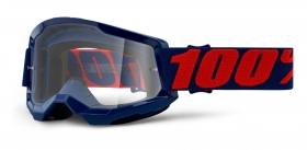 brýle na motokros 100% Strata 2 Masego čiré plexi
