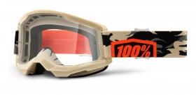 brýle na motokros 100% Strata 2 Kombat čiré plexi