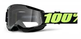 brýle na motokros 100% Strata 2 Upsol čiré plexi