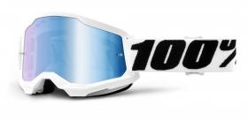 brýle na motokros 100% Strata 2 Everest zrcadlové modré plexi