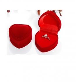 dárková krabička červené srdce
